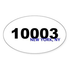10003 Oval Decal
