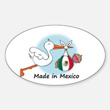 Stork Baby Mexico Oval Decal