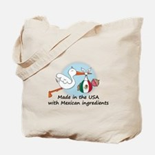 Stork Baby Mexico USA Tote Bag