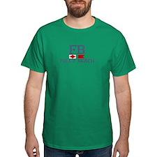 Folly Beach - Nautical Design. T-Shirt