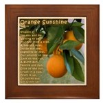 Orange Sunshine Framed Tile