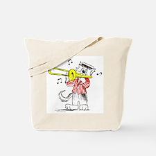 Trombone Cat Tote Bag
