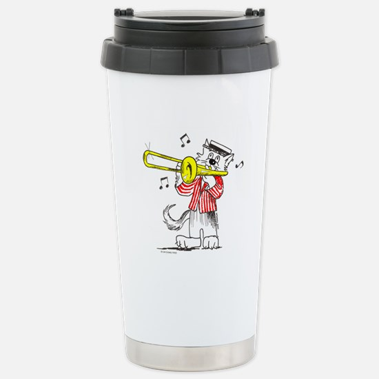 Trombone Cat Stainless Steel Travel Mug