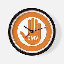 Stop CMV Logo Wall Clock