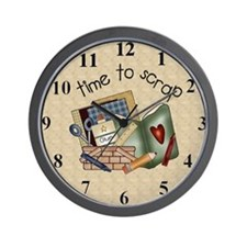 Unique Scrapbooker Wall Clock