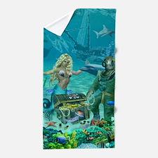 Mermaid's Coral Reef Treasure Beach Towel