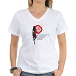 Root Chakra Affirm Women's V-Neck T-Shirt