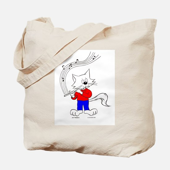 Flute Cat Tote Bag