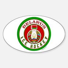 BY Belarus/Bielarus Ice Hockey Sticker (Oval)