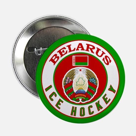 """BY Belarus/Bielarus Ice Hockey 2.25"""" Button"""
