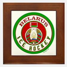 BY Belarus/Bielarus Ice Hockey Framed Tile