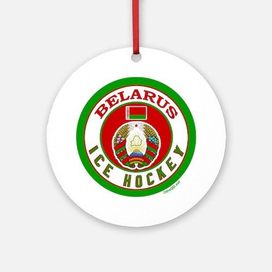 BY Belarus/Bielarus Ice Hockey Ornament (Round)