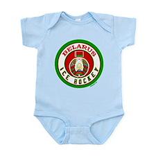 BY Belarus/Bielarus Ice Hockey Infant Bodysuit