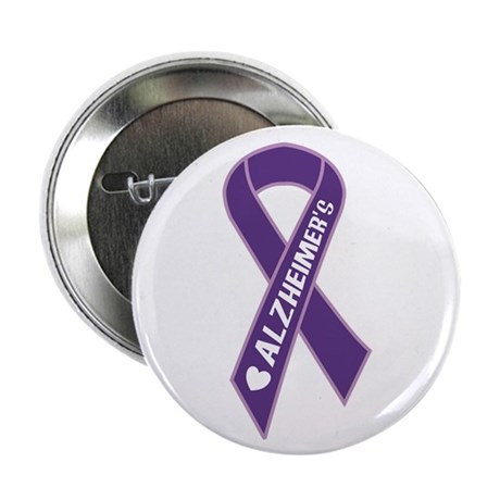 "Purple Alzheimer's Ribbon 2.25"" Button (100 pack)"
