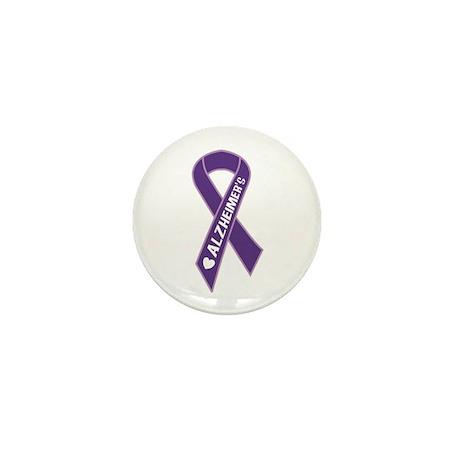 Purple Alzheimer's Ribbon Mini Button
