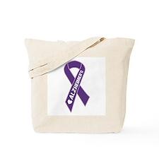 Purple Alzheimer's Ribbon Tote Bag