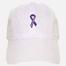 Purple Alzheimer's Ribbon Baseball Baseball Cap