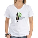 Heart Chakra Affirm Women's V-Neck T-Shirt