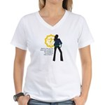 Solar Plexus Chakra Affirm Women's V-Neck T-Shirt