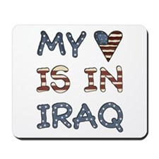 My Heart is in Iraq Mousepad