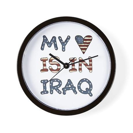 My Heart is in Iraq Wall Clock