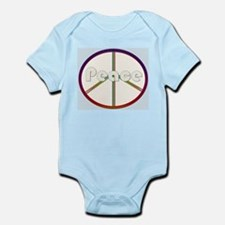 White / Red Peace Sign Infant Bodysuit