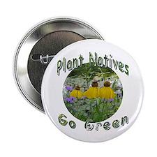 "Cute Native plants 2.25"" Button"