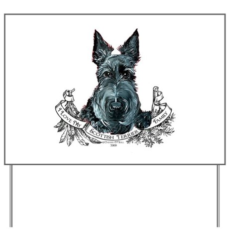 Scottish Terrier Love Yard Sign