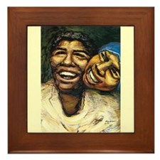Siqueiros Black Mexican Women Framed Tile