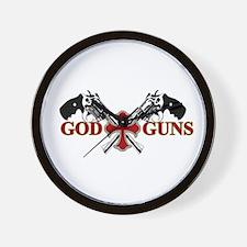 God and Guns Wall Clock