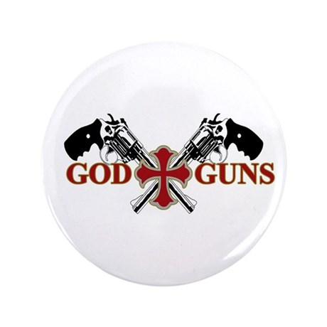 "God and Guns 3.5"" Button (100 pack)"