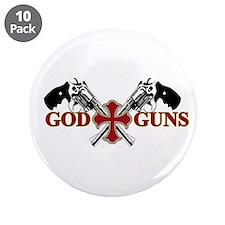 """God and Guns 3.5"""" Button (10 pack)"""