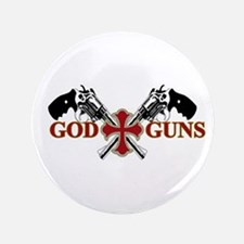 """God and Guns 3.5"""" Button"""