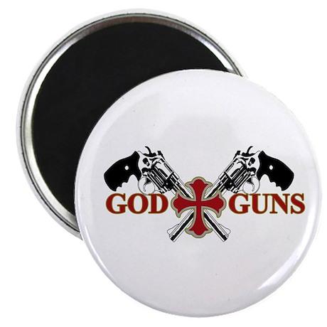 "God and Guns 2.25"" Magnet (100 pack)"
