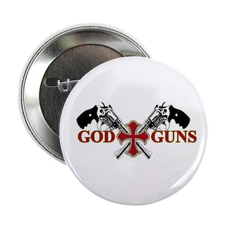 """God and Guns 2.25"""" Button"""