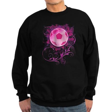 Womens Grunge Floral Soccer Sweatshirt (dark)