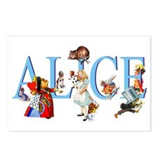 ALICE AND FRIENDS Postcards (Package of 8)