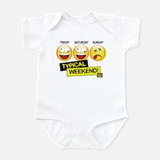 Funny Weekend Infant Bodysuit