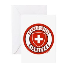 Switzerland Ice Hockey Greeting Card