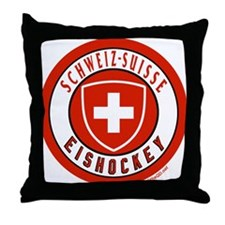 Switzerland Ice Hockey Throw Pillow