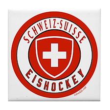 Switzerland Ice Hockey Tile Coaster