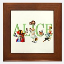 ALICE AND FRIENDS Framed Tile