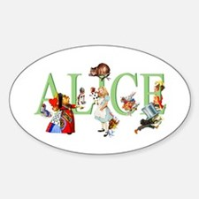 ALICE AND FRIENDS Sticker (Oval)