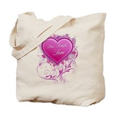 Live, Laugh Love Floral Grung Tote Bag