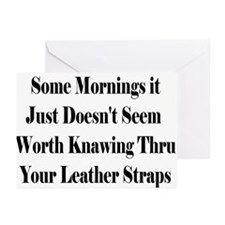 Leather Straps Greeting Cards (Pk of 10)