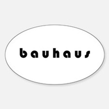 Bauhaus Oval Decal