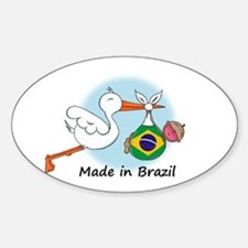Stork Baby Brazil Oval Decal
