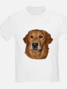 Head Study Golden Retriever Kids T-Shirt