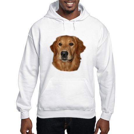 Head Study Golden Retriever Hooded Sweatshirt