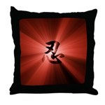NIN Rays Red Throw Pillow